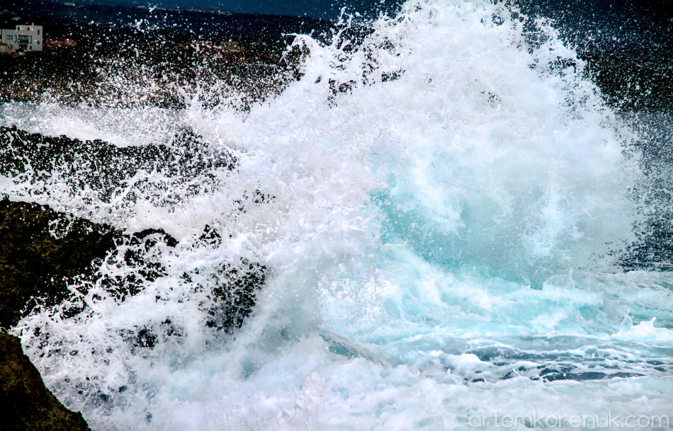 wave mediterrian sea Cyprus Paphos  storm ocean strong wind hurricane